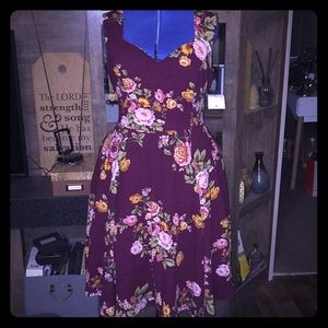 NWT IXIA FLORAL FIT AND FLARE SWING DRESS SIZE 2X